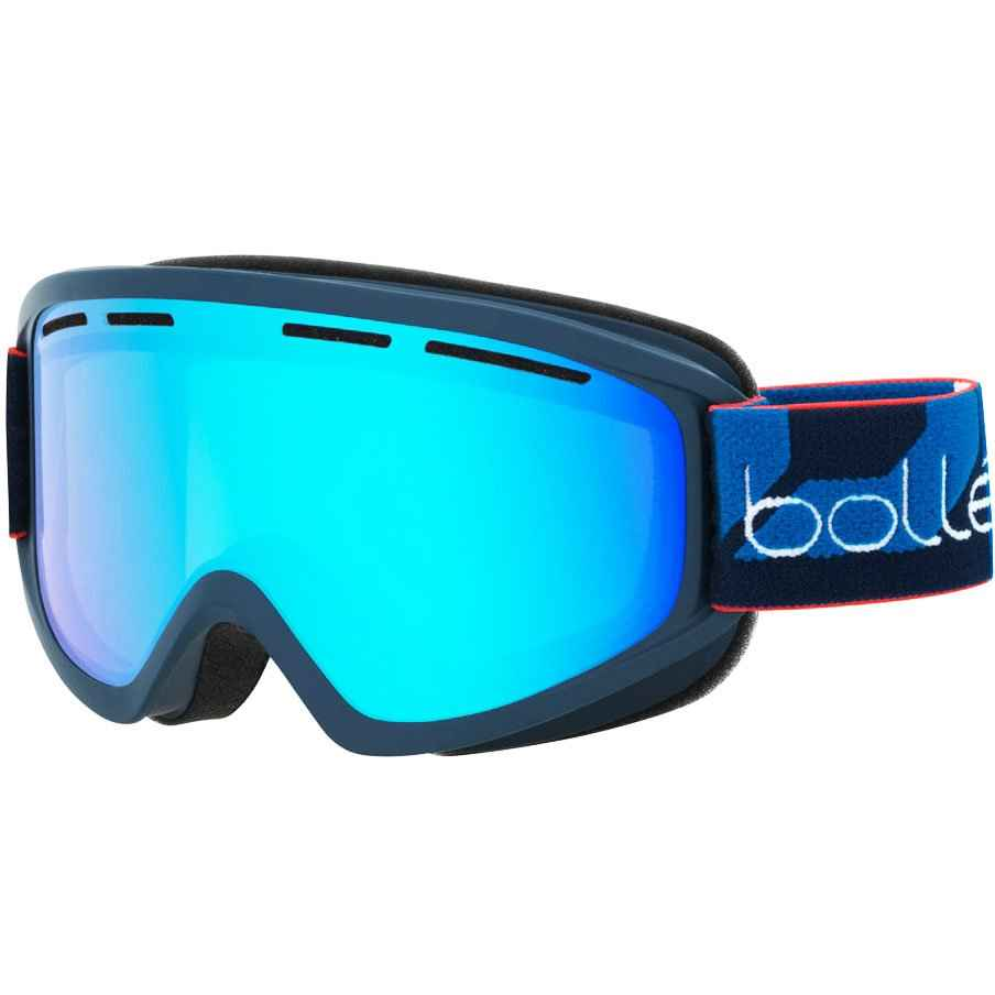 очки bolle schuss matte navy light vermillon blue