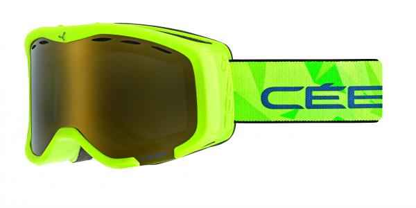 очки cebe cheeky mat lime green dark smoke flash gold cat.3