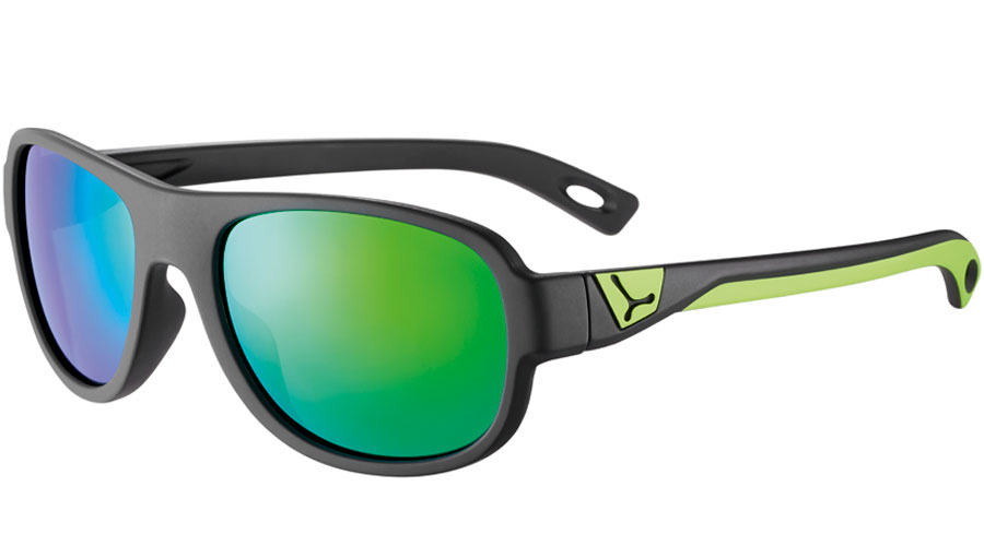 очки cebe zac matt black lime 1500 grey pc blue light green flash mirror cat.3