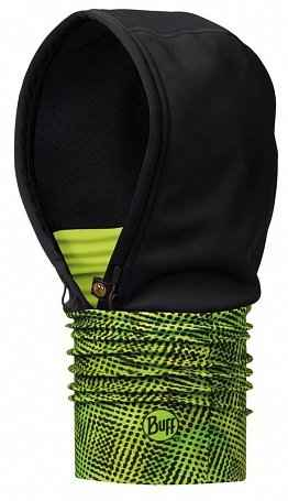 капюшон buff windproof hoodie xysteryellow fluor-yellow standart черный/желтый