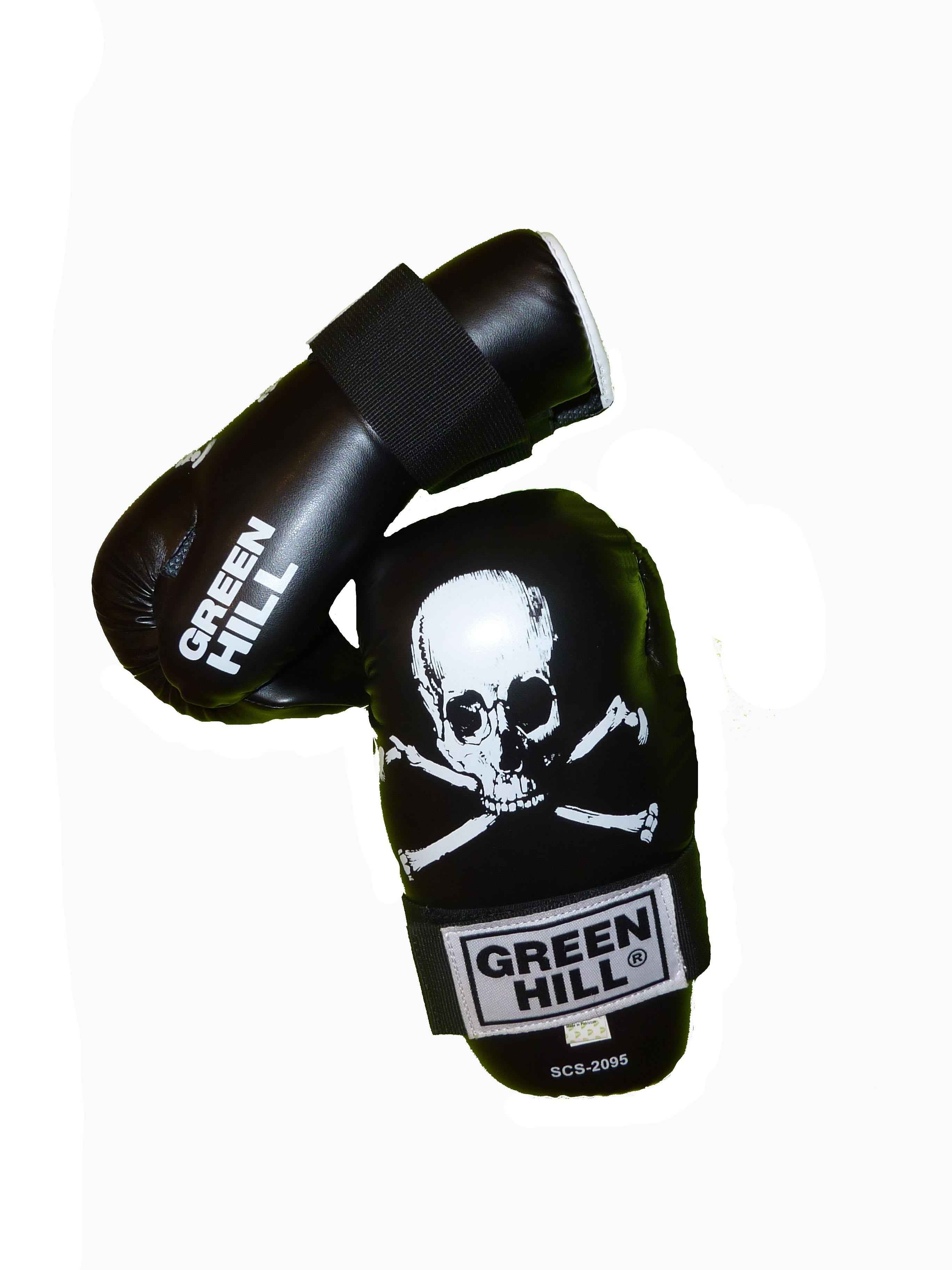 перчатки green hill scl-2095 7-contact skull